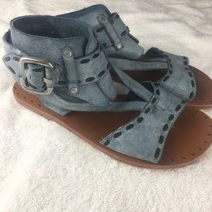 Joes Cuff Suede Leather Sandals